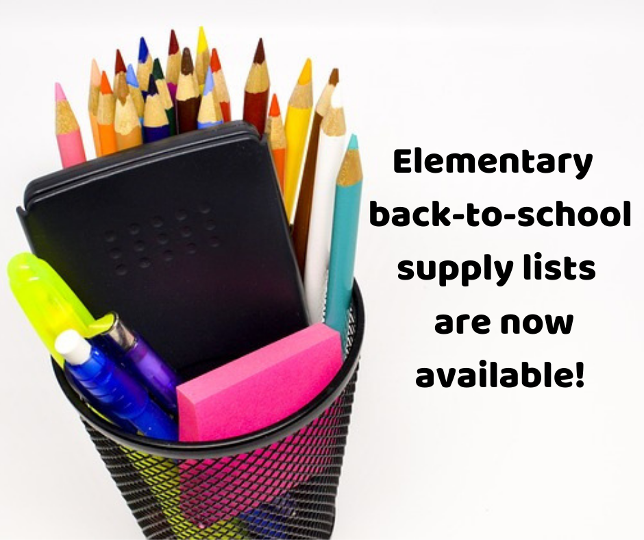 Elementary School 2019-2020 Supply Lists